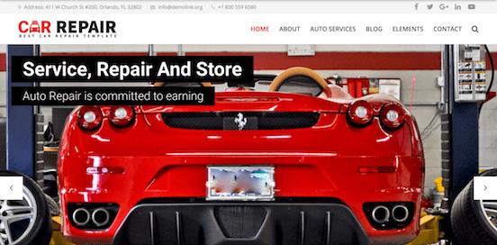 Auto Repair Cherry Theme